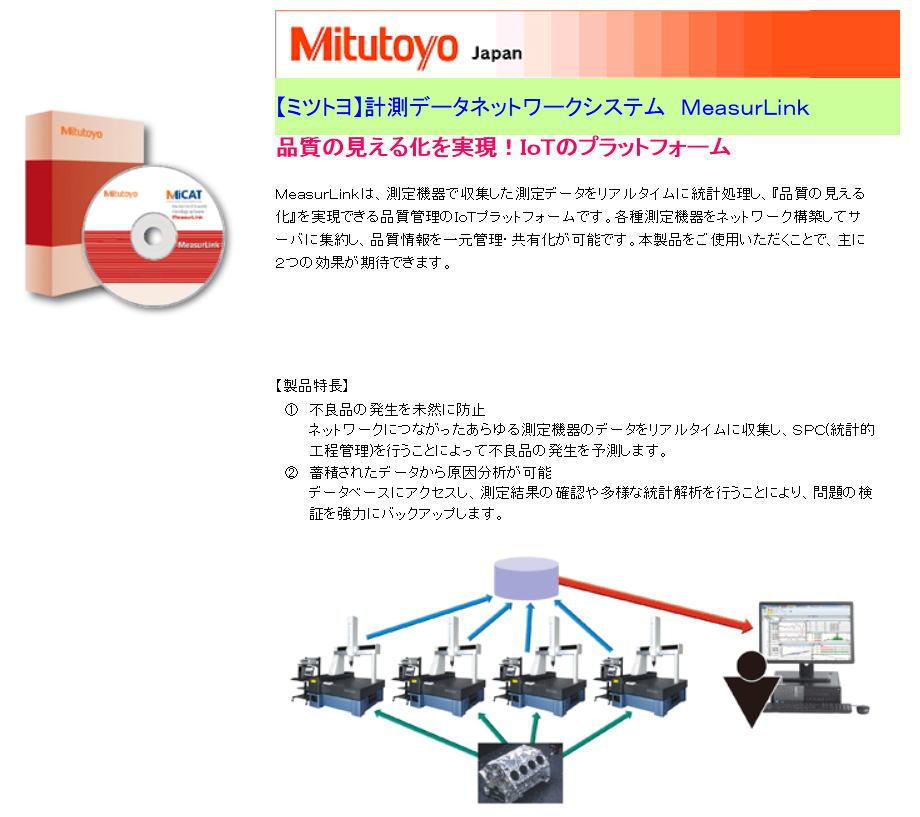 【ミツトヨ】計測データネットワークシステム MeasurLink