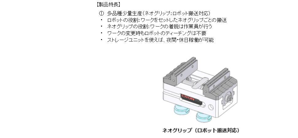【ナベヤ】ネオグリップ 少品種大量生産から多品種少量生産までニーズに応じたロボット用バイス 2