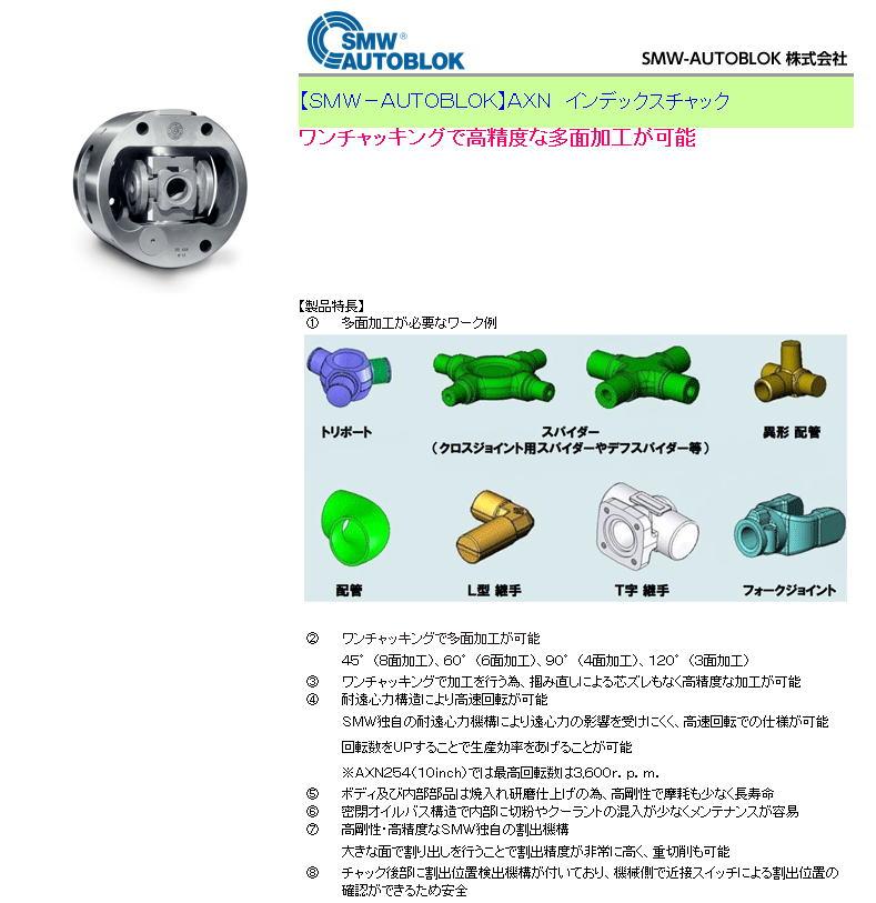 【SMW-AUTOBLOK】AXN インデックスチャック ワンチャッキングで高精度な多面加工が可能